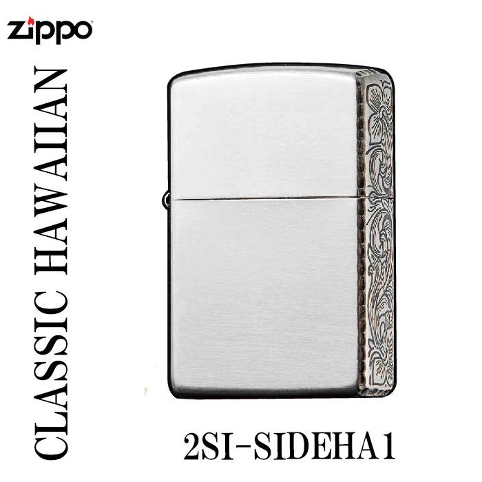 zippo(ジッポーライター)CLASSIC HAWAIIAN SERIES銀メッキイブシ仕上げエッチング画像