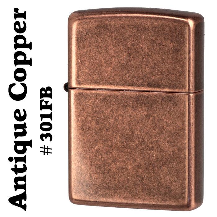 zippo(ジッポーライター) Antique Copper (銅古美) #301 Flat Bottom カッパーコーティング画像