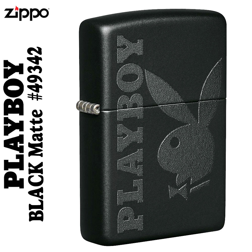 zippo(ジッポーライター)PLAYBOY49342ブラックマット 画像