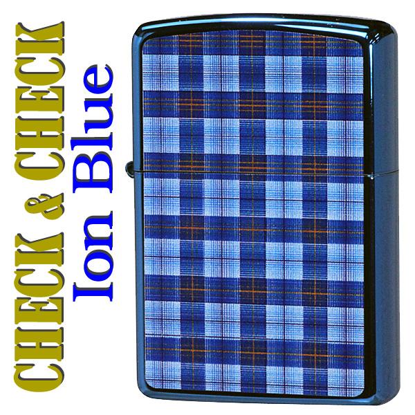 ZIPPO(ジッポー) CHECK&CHECK(チェック柄) C イオンブルー画像