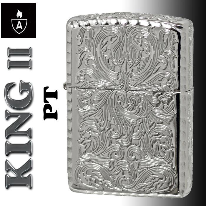 zippo アーマー KING II (キング2) 5面加工 アラベスク PT プラチナコーティング画像