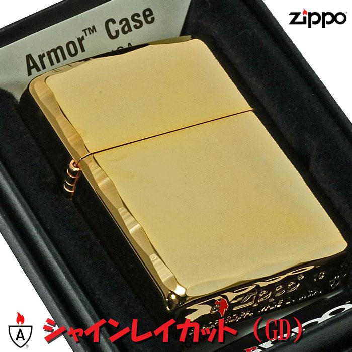 zippo(ジッポーライター)アーマー シャインレイカット ゴールド画像