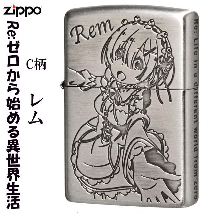 zippo(ジッポーライター)Re:ゼロから始める異世界生活ジッポー銀サテン古美 C柄画像