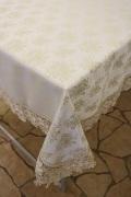 レースジャガード織りテーブルクロス 150cm×230cm