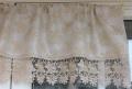 レースジャガード織りカフェカーテン 幅125cm 丈30cm