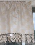レースジャガード織りカフェカーテン 幅125cm 丈45cm