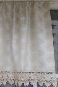 レースジャガード織りカフェカーテン 幅125cm 丈60cm