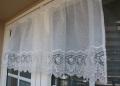 オーガンジーレースカフェカーテン 幅125cm 丈45cm