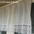 レースカフェカーテン 幅125cm 丈45cm