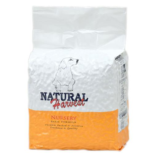 定期購入|ナチュラルハーベスト ベーシックフォーミュラ ナーサリー 4kg ■標準粒 ■幼犬用 ■小型犬用(オールライフステージ)|AAFCO栄養基準適用|無添加ドッグフード