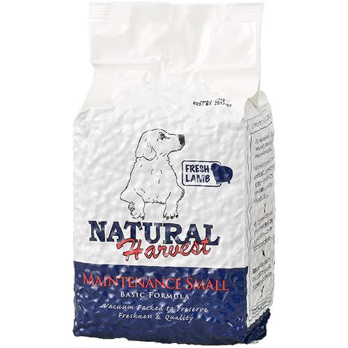 定期購入|ナチュラルハーベスト ベーシックフォーミュラ メンテナンススモール[フレッシュラム] ■標準粒 ■成犬用 ■シニア用 1.59kg|AAFCO栄養基準適用|無添加ドッグフード